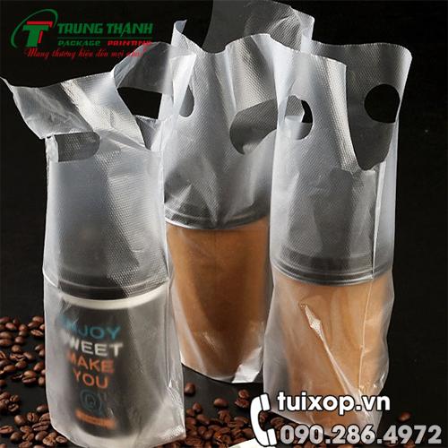 Túi Đựng Cafe 1 Ly Chữ T